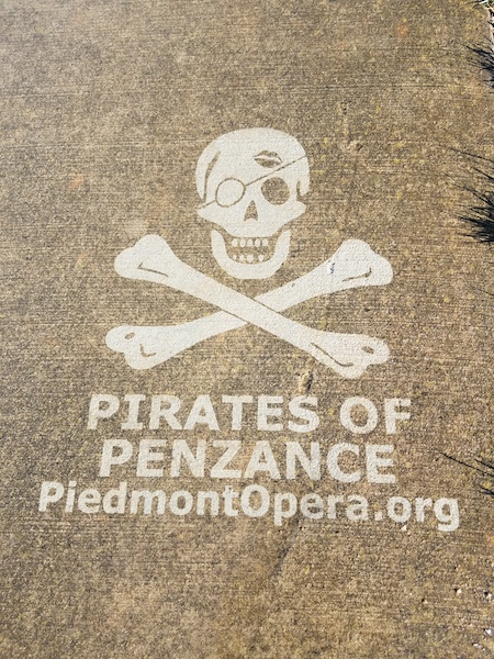 Sidewalk Message Pirates of Penzance